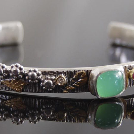 handcrafted bracelet green stone
